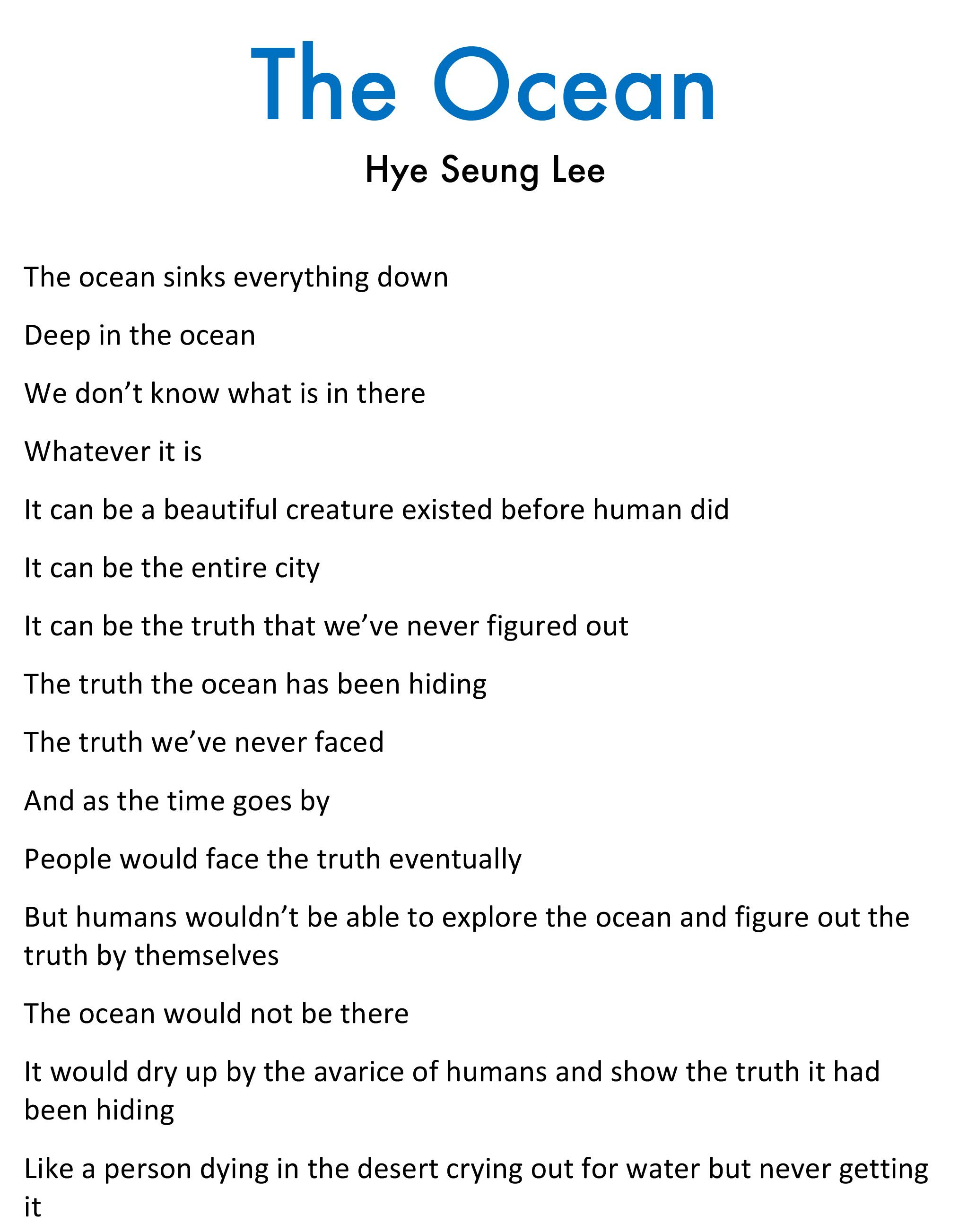 Hye Seung Lee - The Ocean