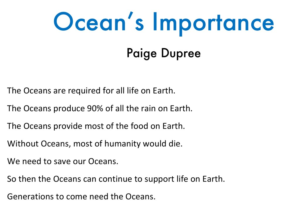 ocean's importance poem