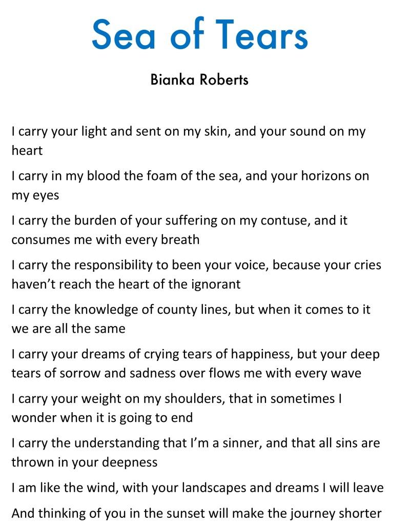 sea of tears poem