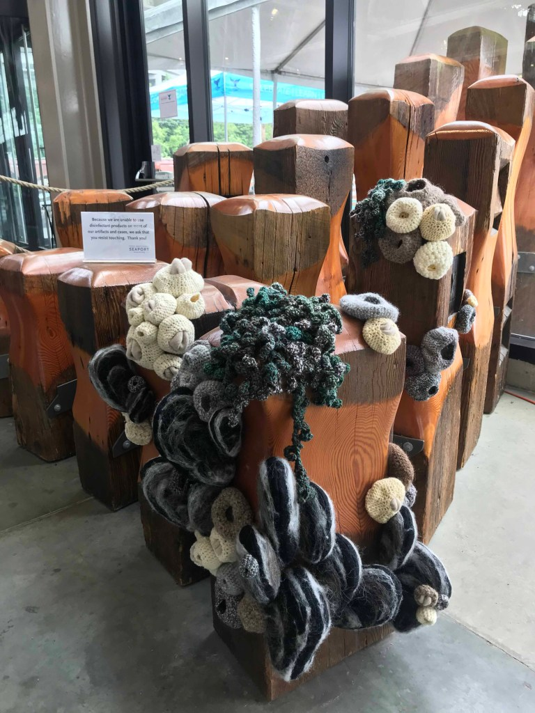 barnacle crochet on pilings