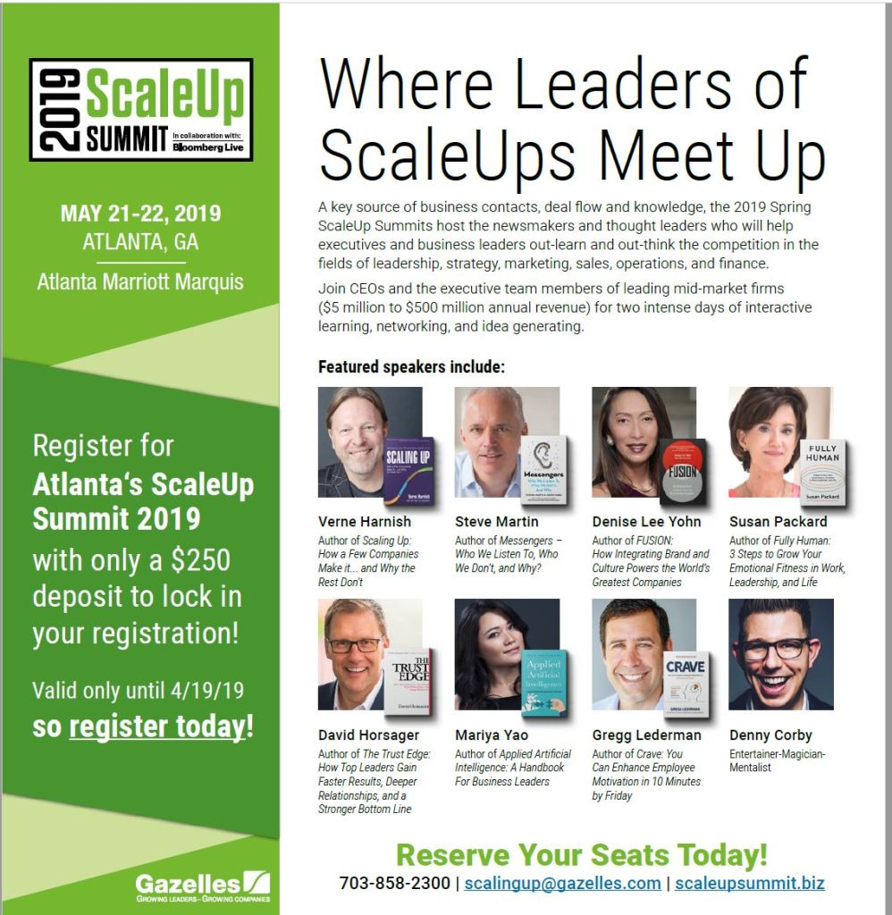Speakers/ Thought Leaders At Atlanta Summit May 21-22