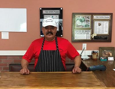 Tacos San Miguel Owner Miguel Preciado