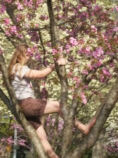 Kaela enjoying a climb