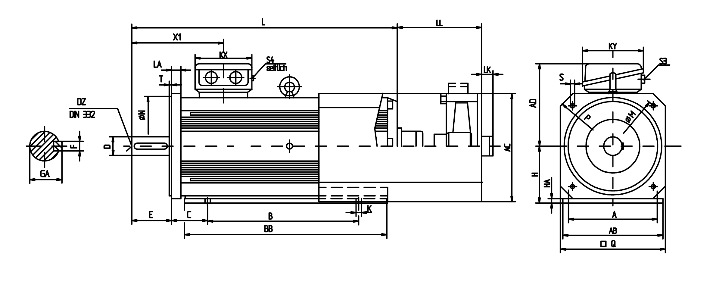 Oswald Qd Asynchronous Motors With External Cooling
