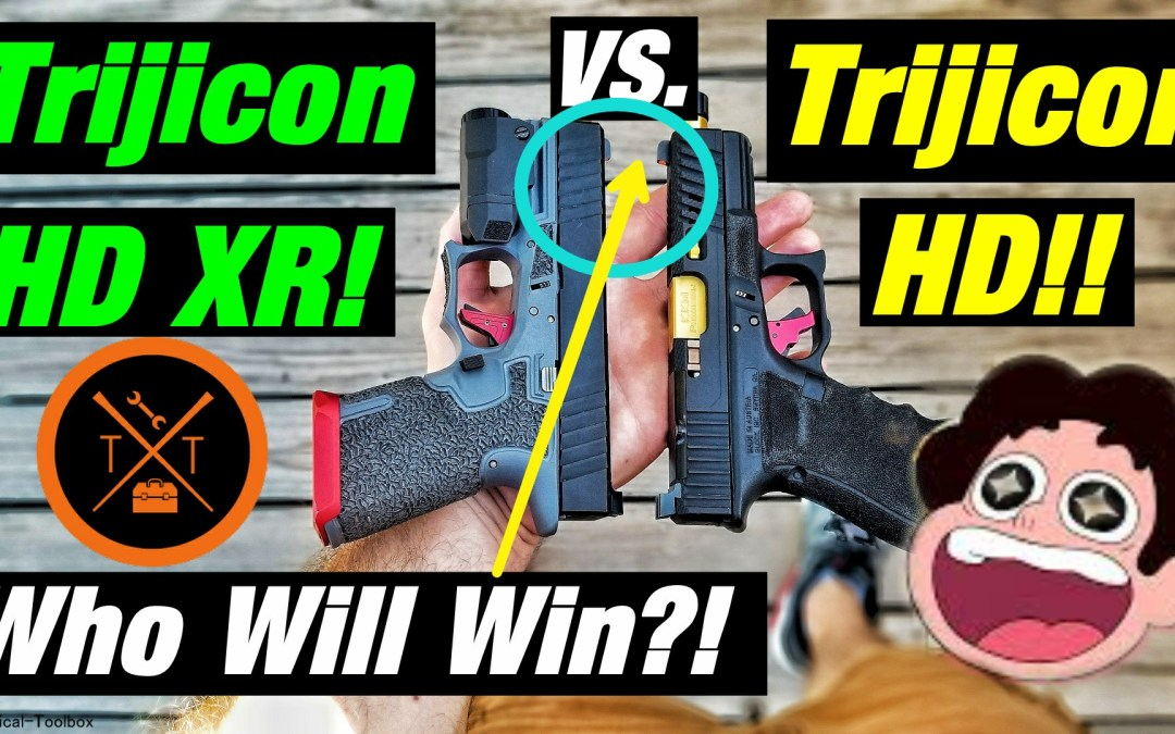 💥Best Night Sights For Home Defense⚡Trijicon HD XR vs HD!!