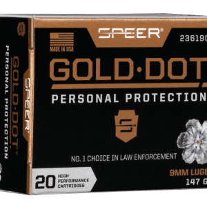 Speer Gold Dot Personal Protection Ammo 9mm 20-Rounds 147 Grain Hollow Point