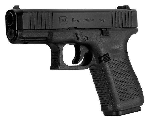 Glock 19 Gen 5 9mm 4.02-inch Barrel 10-Rounds Fixed Sights
