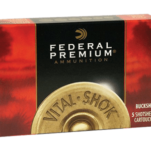 "Federal Vital-Shok Premium 20 Pellet 3 Buck Shotshell Ammo 20 GA 5-Rounds 2.75"""