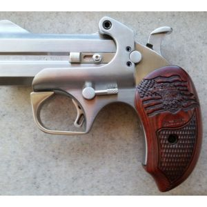 Bond Arms Patriot Defender Derringer Stainless with Wood Grips 45LC/410 3-inch