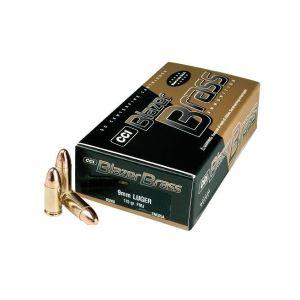 CCI Ammunition Blazer Brass Full Metal Jacket Round Nose 124 Grain Brass 9mm 50Rds