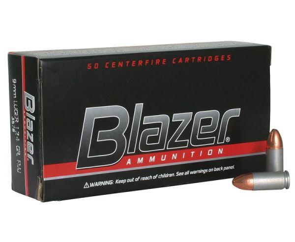 CCI Ammunition Blazer FMJ 124 Grain Aluminum 9mm 50Rds