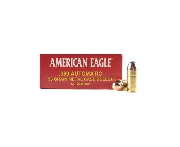 Federal AM Eagle 380 ACP 95GR FMJ 50rds