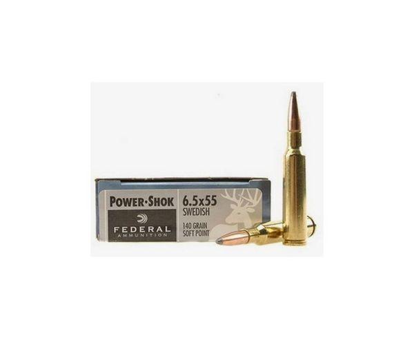 Federal PWRSHK 6.5X55 140GR SP 20rds