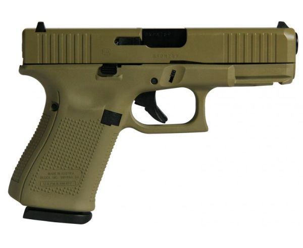 """Glock 19 Gen5 Flat Dark Earth 9mm 4.02"""" Barrel 15-Rounds"""