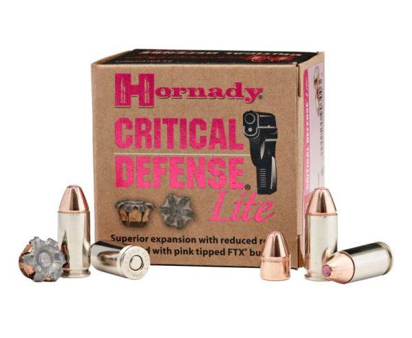 Hornady Critical Defense Lite 9mm 100GR FTX 25Rds