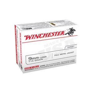 Winchester Ammunition 9mm 115GR FMJ 100rds