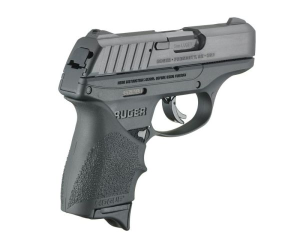 "Ruger EC9s 9mm 3.12"" Barrel 7-Rounds Hogue HandALL Grip"