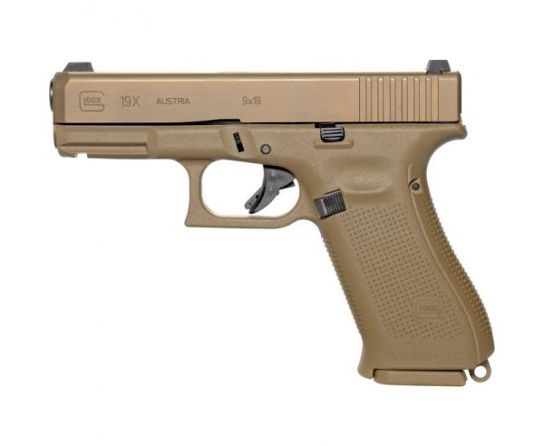 "Glock 19X Gen 5 Flat Dark Earth 9mm 4.02"" Barrel 19-Rounds Streamlight TLR7A"
