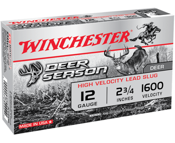 "Winchester Deer Season High Velocity 12 GA 2.75"" 5-Rounds Slug"