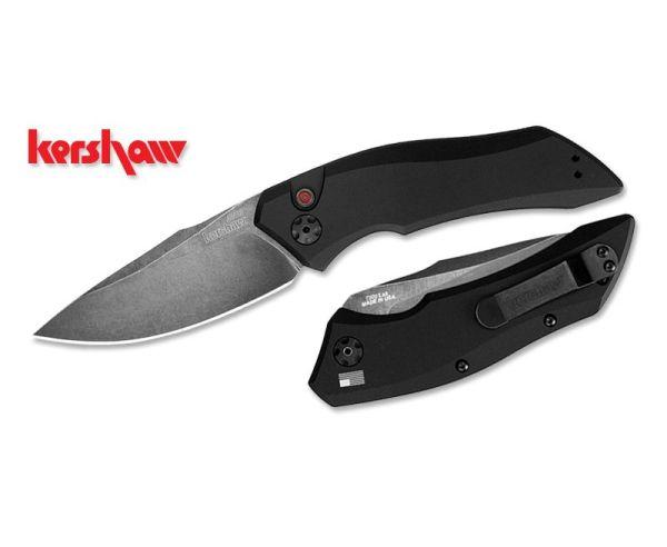 "Kershaw Launch 1 Automatic Push Button Knife - 3.4"" Plain Drop-Point Blade"