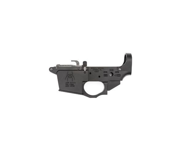 Spike's Tactical 9mm Glock Style Lower Receiver w/ Spider Engraving Black 9mm