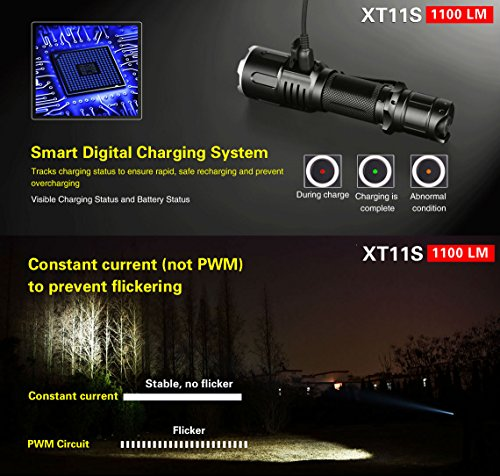 klarus xt11s 1100 lumen tactical flashlight
