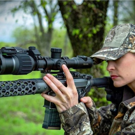 Digex digital riflescope features an HD 1280x720 sensor that provides 600 yards of detection range in darkness from the included IR.