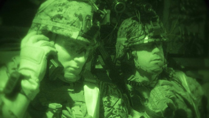 MARPAT camouflage - blends in at night as seen through IR.