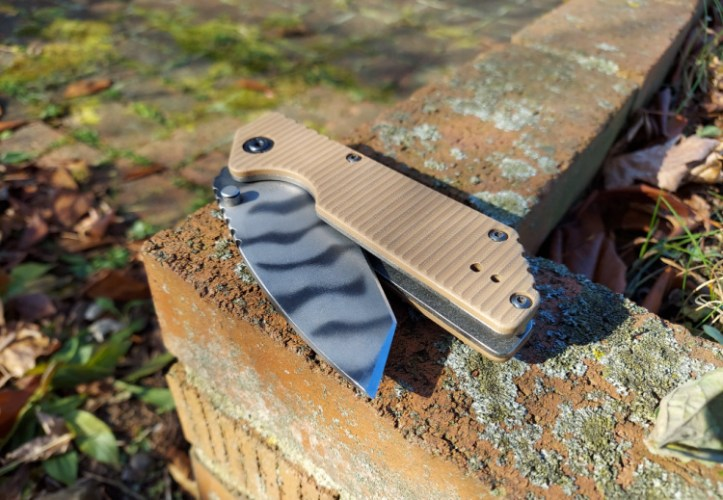 Strider GB folding knife with tanto blade.