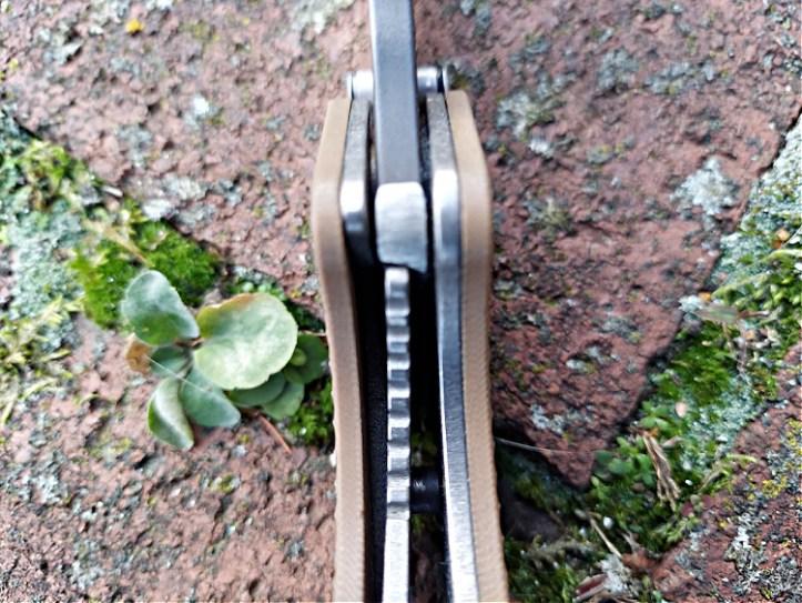 Strider GB folding knife liner lock.