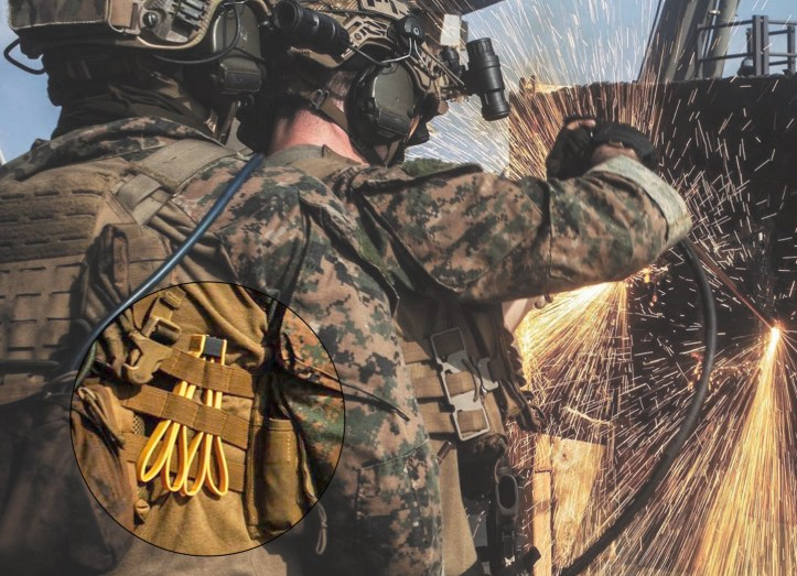 Armament Systems and Procedures restraints in MOLLE system.