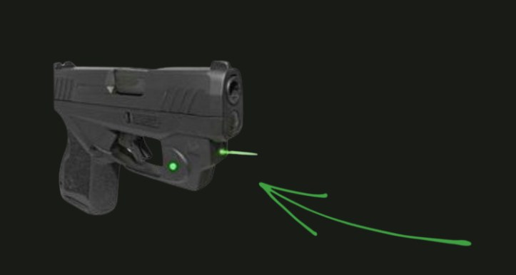Taurus GX4 accessories - green laser light from Viridian.
