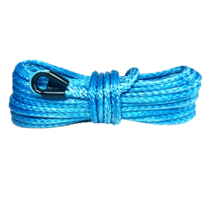 "3/8"" Blue Winch Rope - 20,000 lb. Breaking Strength 