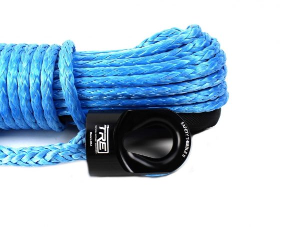 """3/8"""" Blue Winch Rope & Safety Thimble"""