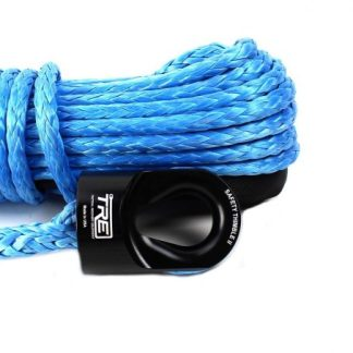 "3/8"" Blue Winch Rope & Safety Thimble"