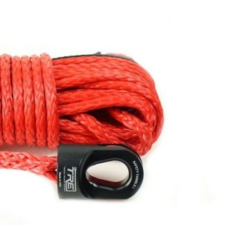 "1/4"" Red Winch Rope & Safety Thimble"