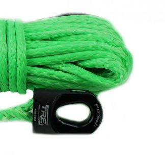 "1/4"" Lime Green Winch Rope & Safety Thimble"