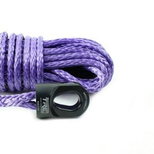 "1/4"" Purple Winch Rope & Safety Thimble"