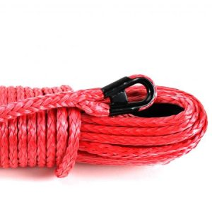 Red Winch Rope w/Steel Eyelet