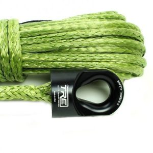 "3/8"" Military Green Winch Rope & Safety Thimble"