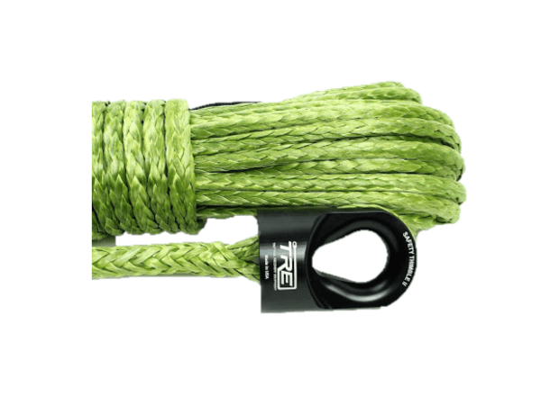 3/8 Military Green Winch Rope & Safety Thimble