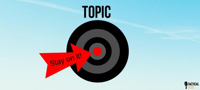topic focus - public speaking