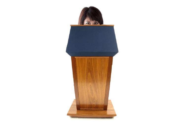 Public speaking matt kramer tactical talks overcome fear wacky lectern