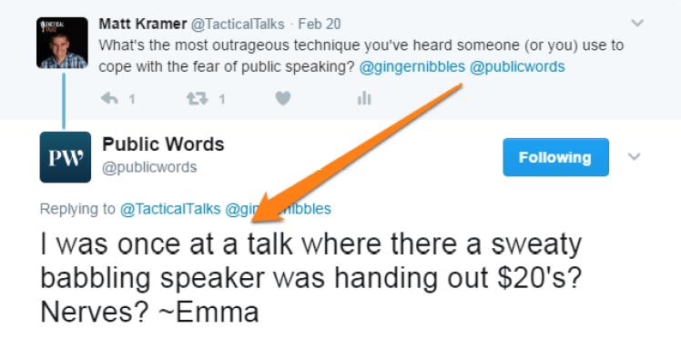 public speaking public words matt kramer tactical talks weird wacky fear overcome