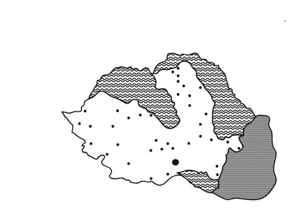 Harta României după cedarea Basarabiei, Nordului Transilvaniei și Cadrilaterului