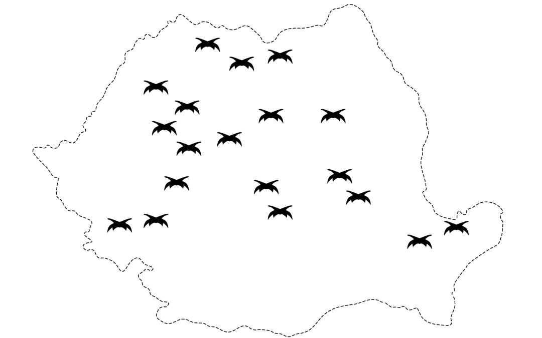 Harta cu principalele grupări de rezistență anticomuniste