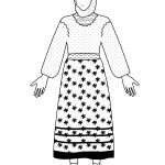 traditional costume from iași, moldavia