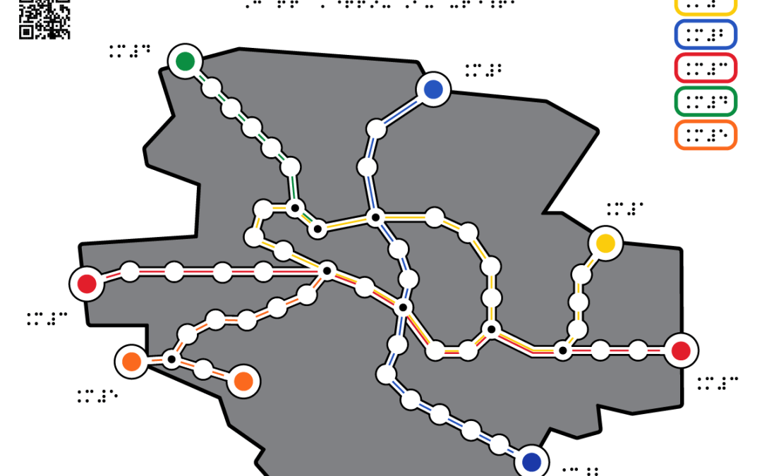 Subway Map colored A3
