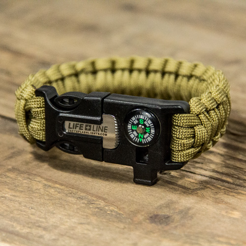 TX-LIFELINE102 - Life Line Survival Wrist Band for outdoor enthusiasts