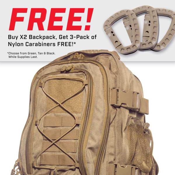 X2 Expandable Tactical Backpack - Hydration Bladder Compatible
